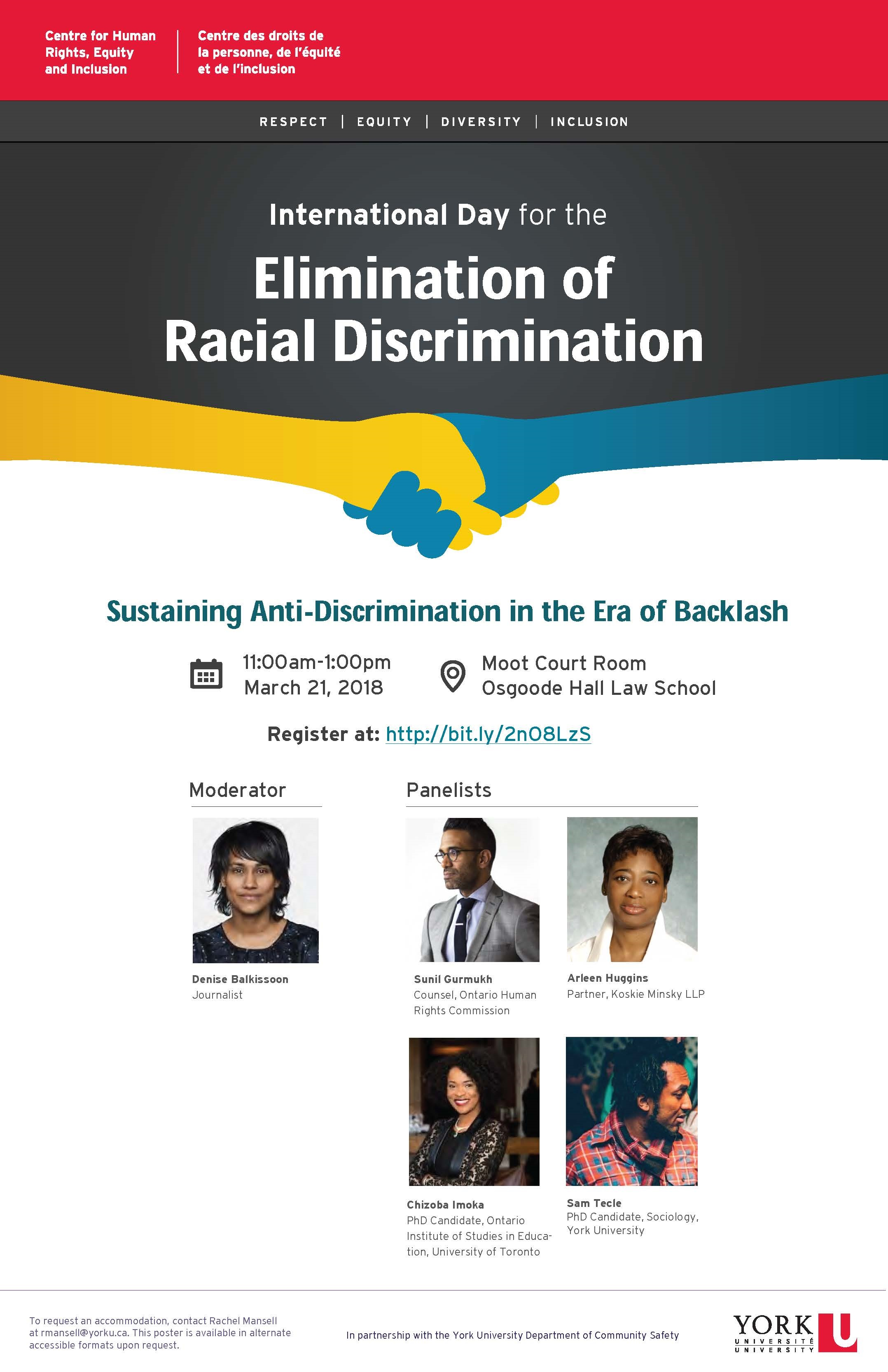 REI Day: International Day for the Elimination of Racial Discrimination @ Moot Court Room, Osgoode Hall Law School | Toronto | Ontario | Canada
