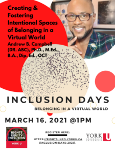 Inclusion Days: Creating & Fostering Intentional Spaces of Belonging in a Virtual World